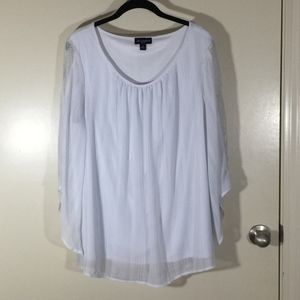 I.N. Studio soft white blouse in 1X